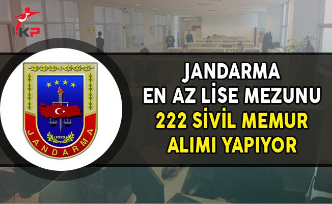 Jandarma En Az Lise Mezunu 222 Kamu Personel Alımı Yapıyor ! (Kimler Başvurabilir?)