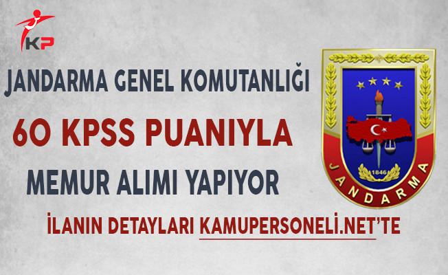 Jandarma Genel Komutanlığı 200 Kamu Personeli Alıyor!
