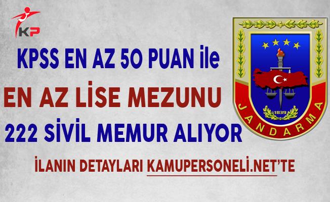 Jandarma Genel Komutanlığı 222 Sivil Memur Alımında Son Gün !