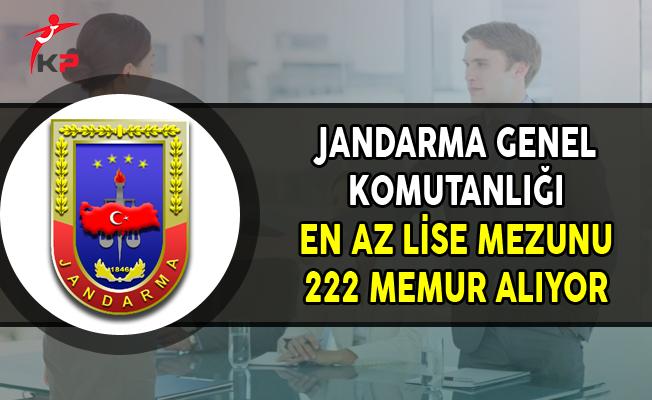 Jandarma Genel Komutanlığı En Az Lise Mezunu 222 Memur Alımı Yapıyor !