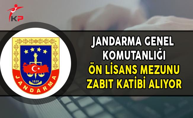 Jandarma Genel Komutanlığı Ön Lisans Mezunu Zabıt Katibi Alımı Yapıyor