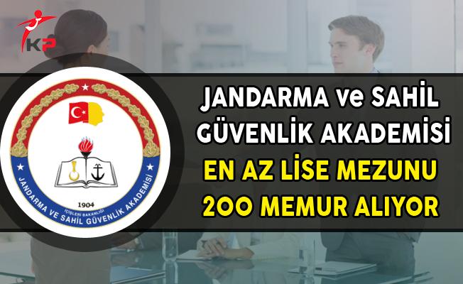 Jandarma ve Sahil Güvenlik Akademisi 200 Memur Alımı Yapıyor (En Az Lise Mezunu)