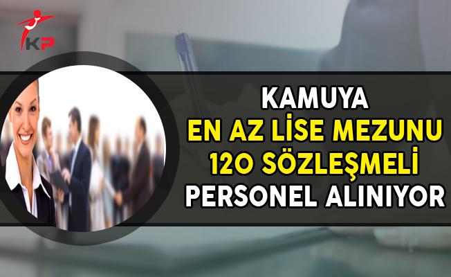 Kamuya En Az Lise Mezunu 120 Sözleşmeli Personel Alımı Yapılıyor (KPSS'li, KPSS Şartsız)
