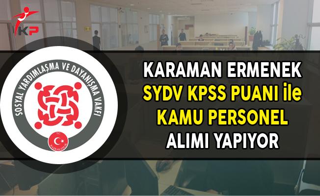 Karaman Ermenek SYDV Kamu Personel Alımı Yapıyor