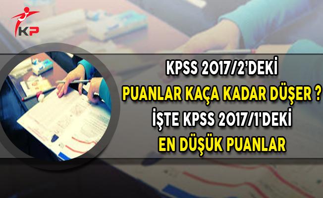 İşte KPSS 2017/1'deki En Düşük Puanlar!
