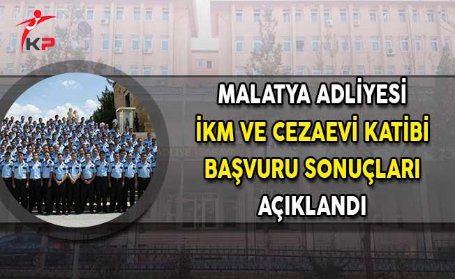 Malatya Adliyesi CTE İKM Cezaevi Katibi ve Memur Alımı Başvuru Sonuçları Açıklandı!