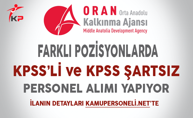 Orta Anadolu Kalkınma Ajansı Personel Alımı Başvuruları Başladı