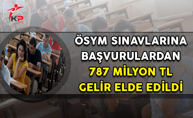 ÖSYM Sınavlarına Başvurudan 787 Milyon TL Gelir Elde Edildi