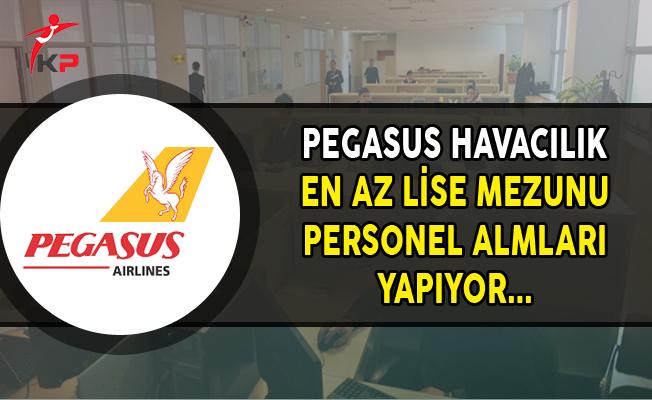 Pegasus En Az Lise Mezunu Personel Alımları Yapıyor