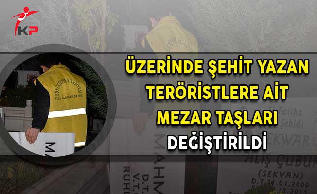 PKK Teröristlerin Üzerinde Şehit Yazan Mezar Taşları Değiştirildi!