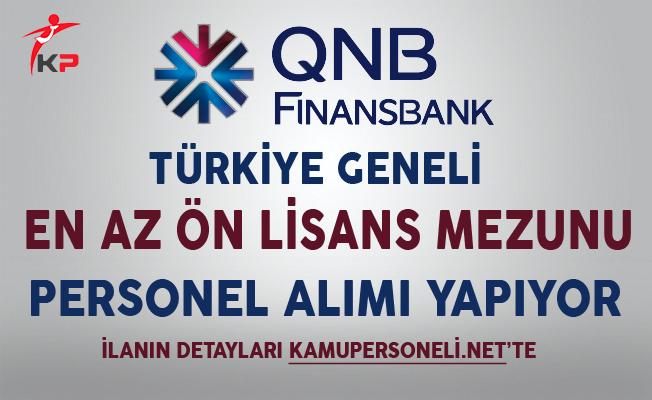 QNB Finansbank Türkiye Geneli Personel Alım İlanı