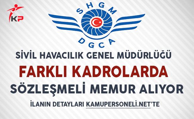 Sivil Havacılık Genel Müdürlüğü Sözleşmeli Kamu Personeli Alım İlanı!