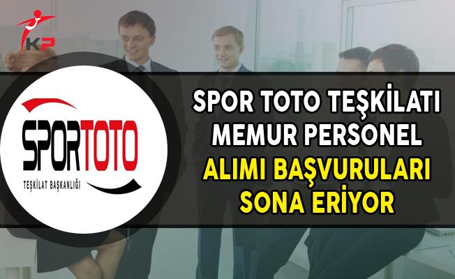 Spor Toto Teşkilatı Memur Personel Alımında Son Gün