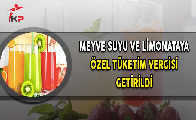 TBMM'de Kabul Edildi: Limonata ve Meyve Suyuna ÖTV Geldi