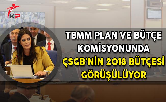 TBMM Plan ve Bütçe Komisyonunda ÇSGB'nin 2018 Bütçesi Görüşüldü