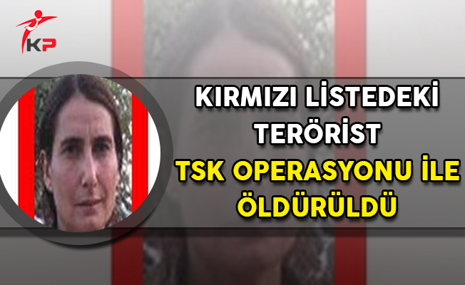 TSK Operasyonu Kapsamında Kırmızı Listedeki Kadın Terörist Öldürüldü