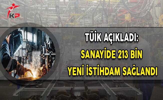 TÜİK Açıkladı: Sanayide 213 Bin Yeni İstihdam Sağlandı