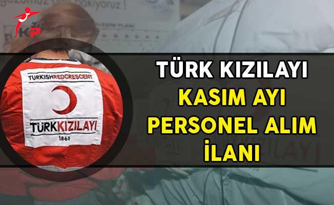 Türk Kızılayı Kasım Ayı Personel Alım İlanı!