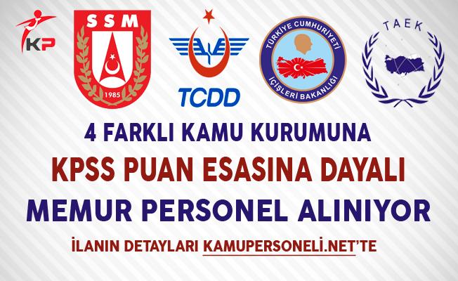 4 Kuruma KPSS Puanı ile 45 Memur Personel Alımı Yapılıyor
