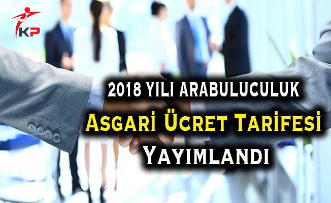 Adalet Bakanlığı 2018 Yılı Arabuluculuk Asgari Ücret Tarifesi Yayımlandı