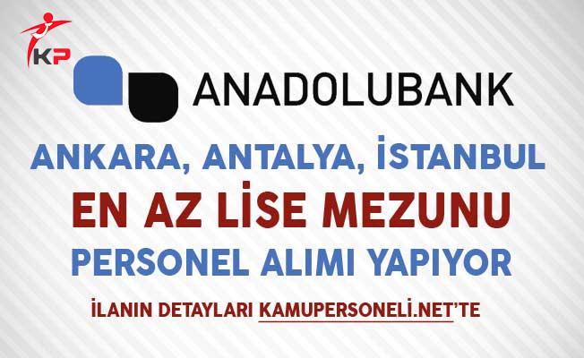 Anadolubank Perakende Bankacılık Yönetmeni Personel Alıyor