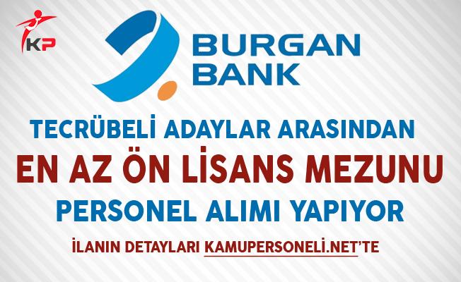 Burgan Bank Aralık Ayı Personel Alım İlanı
