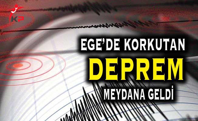 Ege'de Korkutan Bir Deprem Meydana Geldi