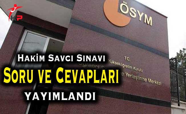 Adalet Bakanlığı Hakim Savcı Sınavı Soru ve Cevapları ÖSYM Tarafından Yayımlandı