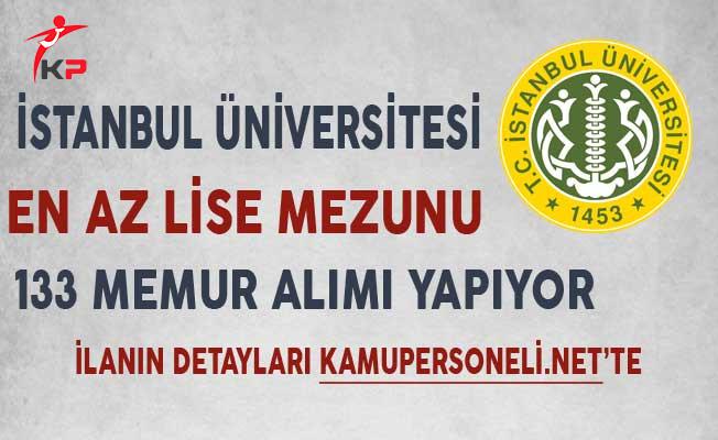 İstanbul Üniversitesi 133 Memur Alımı Başvurularında Son Gün