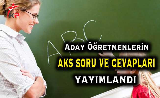 MEB 24 Aralık Aday Öğretmenlik Sınavı Soru ve Cevapları Yayımlandı