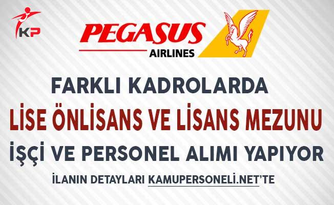 Pegasus Hava Yolları Çeşitli Kadrolarda İşçi ve Personel Alımı Yapıyor!
