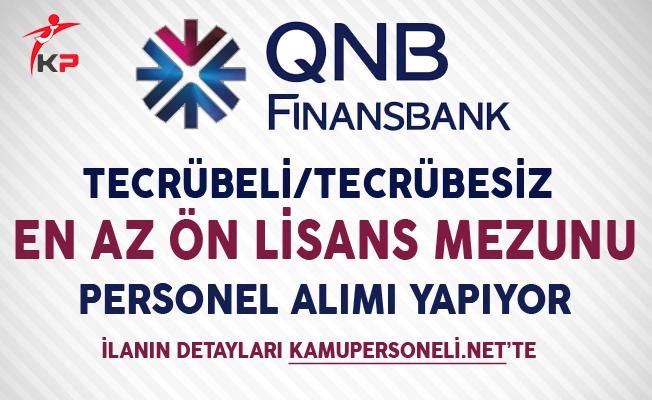 QNB Finansbank En Az Ön Lisans Mezunu Personel Alıyor
