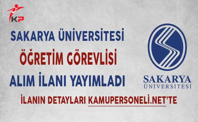Sakarya Üniversitesi Öğretim Üyesi Alım İlanı!
