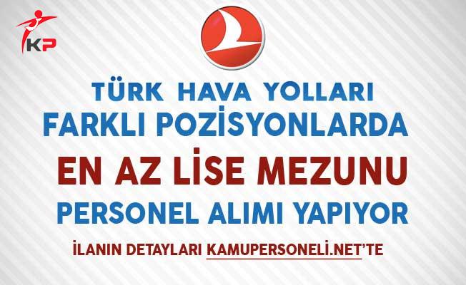 Türk Hava Yolları (THY) Aralık 2017 Personel Alım İlanı