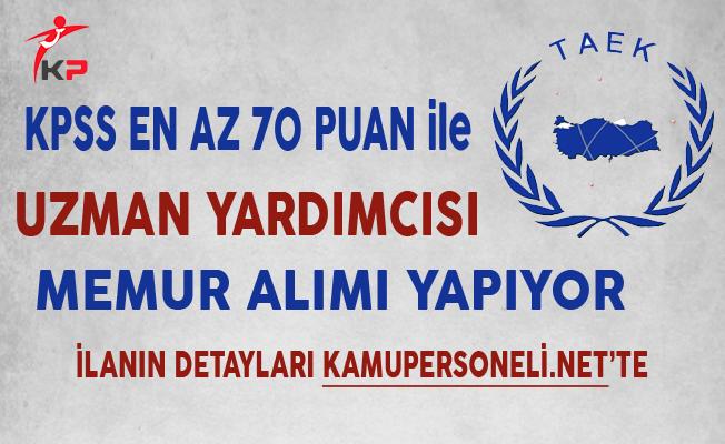 Türkiye Atom Enerjisi Kurumu Memur Alımı Yapıyor