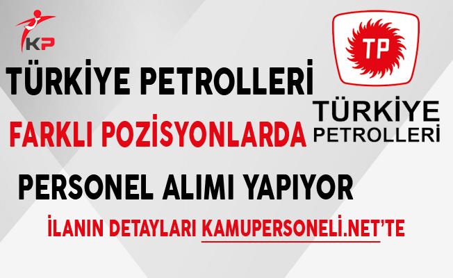 Türkiye Petrolleri Aralık Ayı Personel Alım İlanı