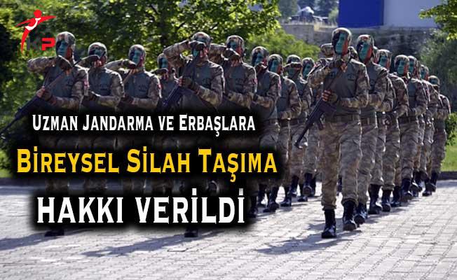 Uzman Erbaş ve Jandarmalara Silah Taşıma Hakkı Verildi