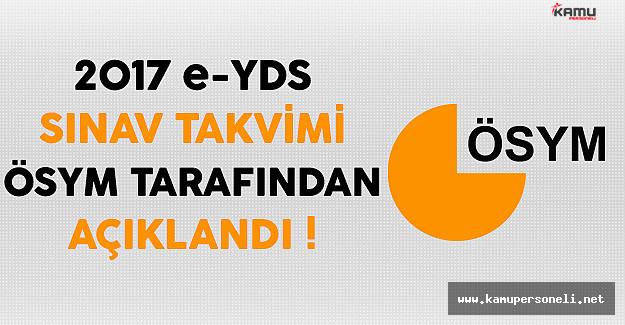 2017 e-YDS Sınav Takvimi ÖSYM Tarafından Açıklandı