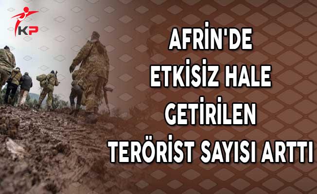 Afrin'de Etkisiz Hale Getirilen Terörist Sayısı Arttı