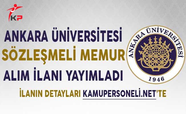 Ankara Üniversitesi Sözleşmeli Kamu Personeli Alım İlanı