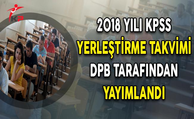 DPB Tarafından 2018 Yılı KPSS Yerleştirme Takvimi Yayımlandı