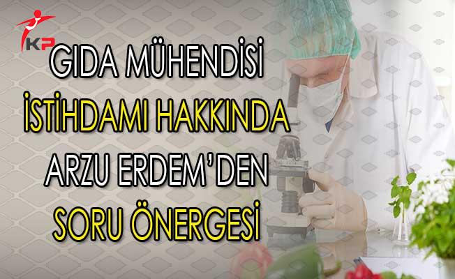 GTHB Gıda Mühendisi Alımı Yapılması Hakkında MHP'li Arzu Erdem'den Soru Önergesi