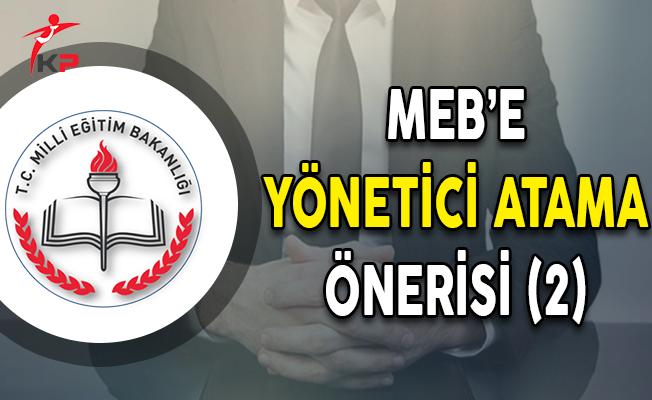 MEB'e Yönetici Atama Önerisi (2)
