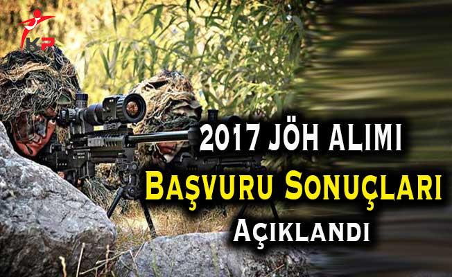 Milli Savunma Bakanlığı (MSB) 2017 Uzman Erbaş (JÖH) Alımı Başvuru Sonuçları Açıklandı