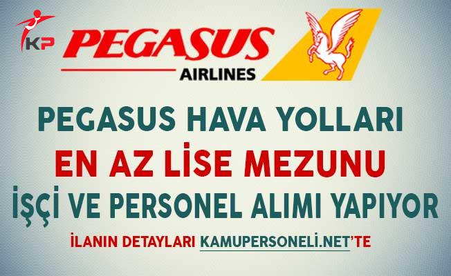 Pegasus Hava Yolları Ocak Ayında En Az Lise Mezunu İşçi ve Personel Alımı Yapıyor