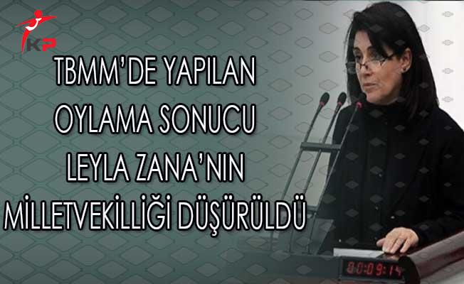 TBMM'de Yapılan Oylama Sonucu Leyla Zana'nın Milletvekilliği Düşürüldü