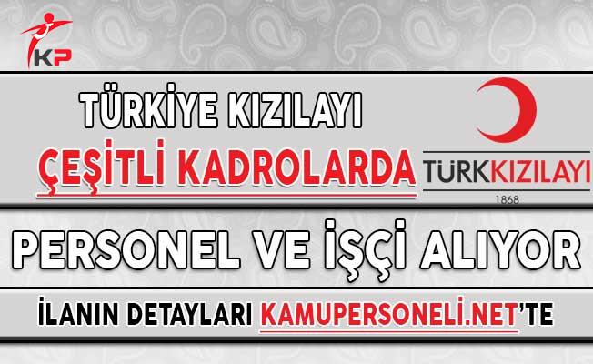 Türk Kızılayı Çeşitli Kadrolarda Yüzlerce Personel Alımı Yapacağını Duyurdu