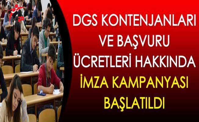 DGS Kontenjanları ve Başvuru Ücretleri Hakkında İmza Kampanyası Başlatıldı
