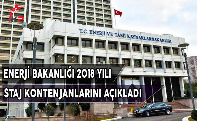 Enerji ve Tabii Kaynaklar Bakanlığı Staj Kontenjanları Açıkladı