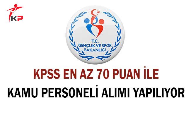 Gençlik ve Spor Bakanlığı Personel Alıyor ! Başvurular Başladı